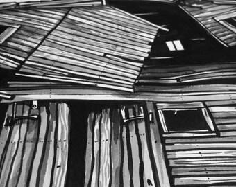 Abandoned Barn print