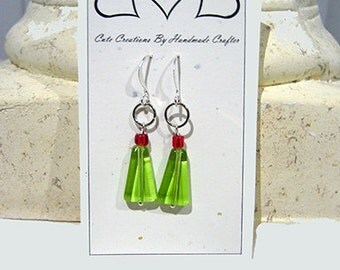 Christmas Earrings, Holiday Themed Jewelry, Modern Christmas Tree
