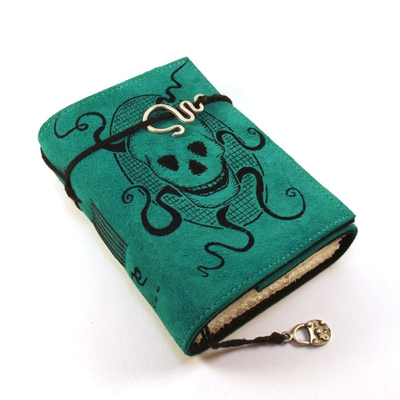 Skull, Leather journal, Notebook