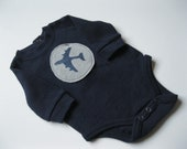 Long Sleeve Onesie with Fighter Plane Stencil