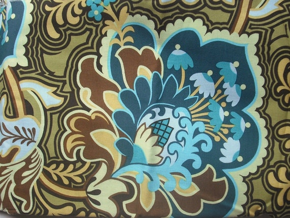 Turquoise Gothic Rose by Amy Butler - Discontinued - quilt weight fabric