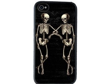 Skeleton Duo Phone Case for  iPhone 4 4s 5 5s 5c SE 6 6s 7  6 6s 7 Plus Galaxy s4 s5 s6 s7 Edge