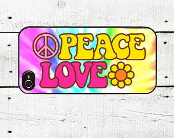 iphone 6 case Hippie Cell Phone Case - Pattern iPhone 4 Case - Cell Phone Case - iPhone 5 Case- Hippie Chic - Peace & Love