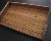 reclaimed wood tray box, salvaged wood tray