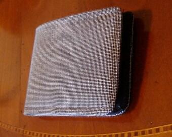 Mens Wallet Slimline bifold Minimalist Silky soft Wool Standard Size 7 Pocket Billfold Fresco di Lana