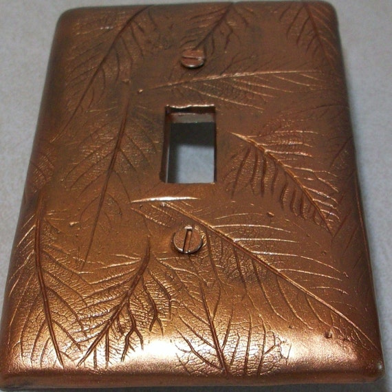 Bronze leaves light switch cover