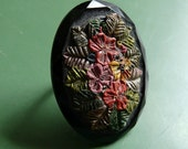 fiori ring - vintage painted glass