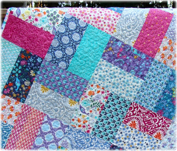 Baby Girl Quilt Cuzco fabrics by Kate Spain