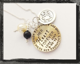 MOTHER of THE BRIDE Necklace - Personalized Mixed Metal  Charm Necklace