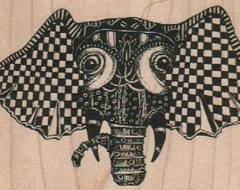rubber stamps stamping rubberstamp  head zentangle   Steampunk Rubber Stamp unmounted designed by Mary Vogel Lozinak no 18838