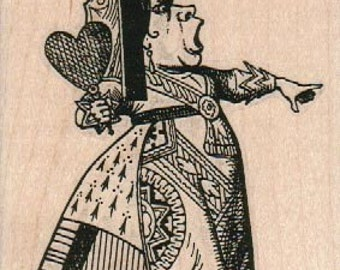 Rubber stamp Queen of Hearts Alice in Wonderland   wood Mounted  scrapbooking supplies number 14260  holzstempel