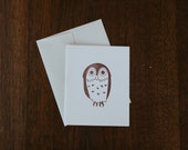 Brown Owl Blank Greeting Card
