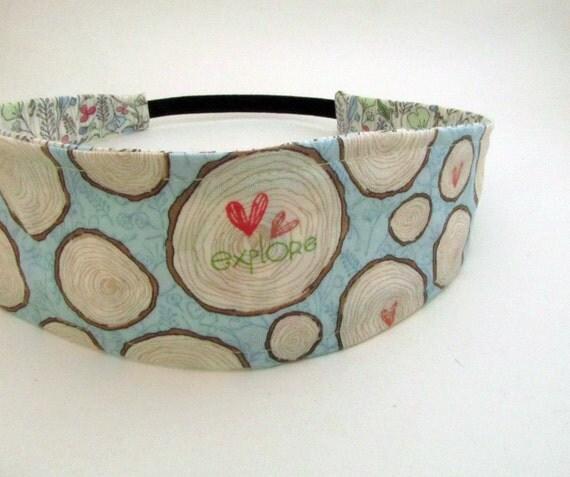 Handmade Reversible Cotton Headband - Explore