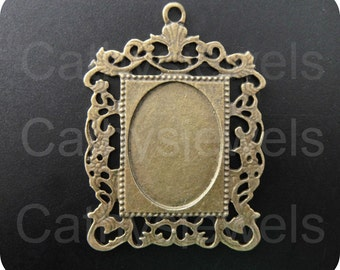 Antique Gold Picture Frame Cameo Setting 6 pieces