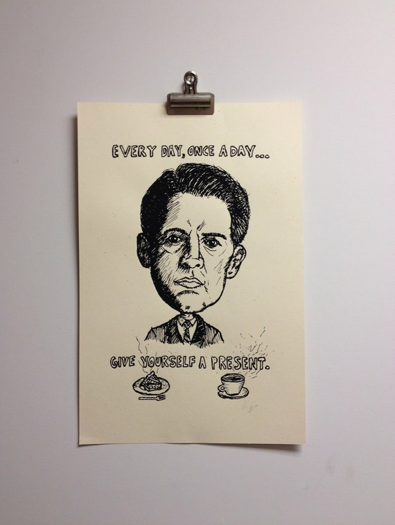 Agent Dale Cooper : Twin Peaks - Screen Printed Poster