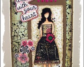 Dream with Your Heart OOAK Handmade Greeting Art Card