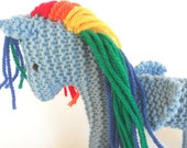Eco Kids Toy, Pegasus, Earth Pony, Fairy Horse, Waldorf Toy, Stuffed Animal Horse, Natural