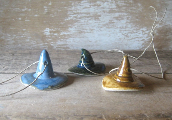 Witch Hat Ornaments Set of Three