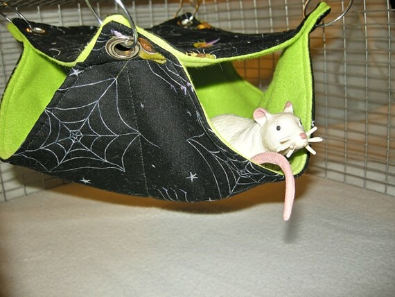 Pet Hammock ,Small 2 Level Hammock,  Rats, Squirrels, Guinea Pigs, Sugar Gliders, HALLOWEEN SALE