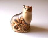 Vintage Hand Painted Pottery Cat Figurine