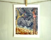 Forever young, baby girl nursery, Bob Dylan lyrics, archival reproduction print 8.5 x 11