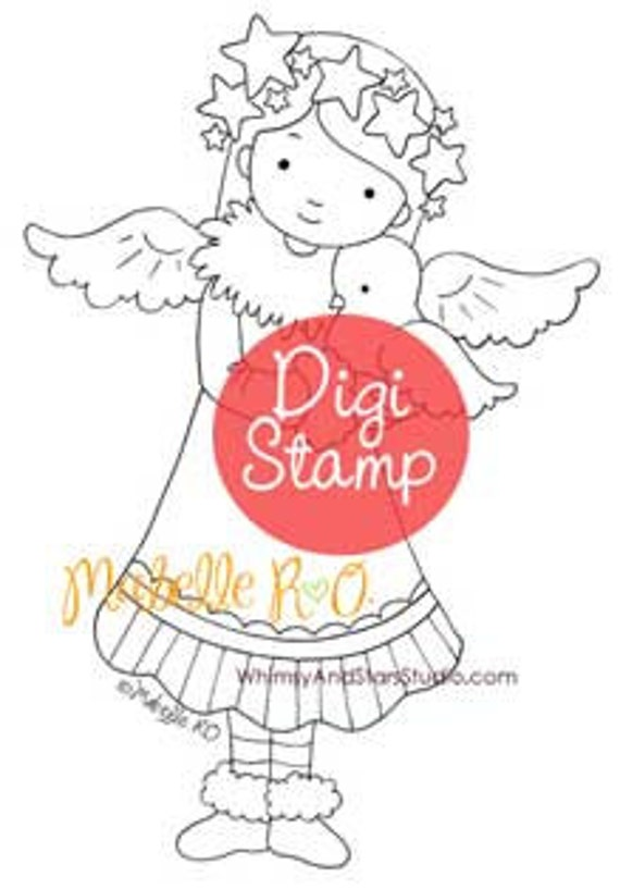 Instant Download Digi Stamp: Felicity