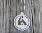 German Shepherd Rescue of New England Custom Mixed Metal Pendant