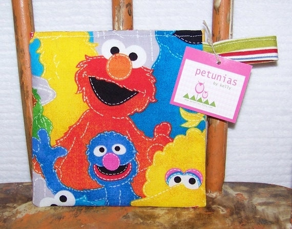 Reusable Little Snack Bag - pouch adults kids sesame street eco friendly by PETUNIAS