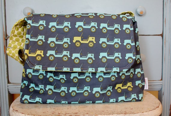 jeep messenger diaper bag by petunias hobo bag purse tote. Black Bedroom Furniture Sets. Home Design Ideas