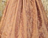 Tan Polka Dot Full Length Skirt