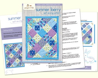 Summer Berry Quilt Sewing Pattern - Printed Booklet