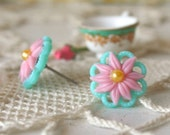 Vintage Flower Ear post - Garden Medley Collection