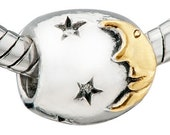 European Beads Authentic Pugster Moon and Stars charm