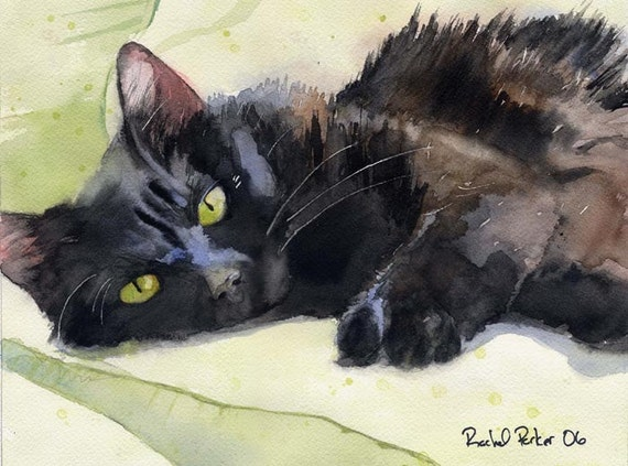 Painting Black Cat Fur In Acrylic
