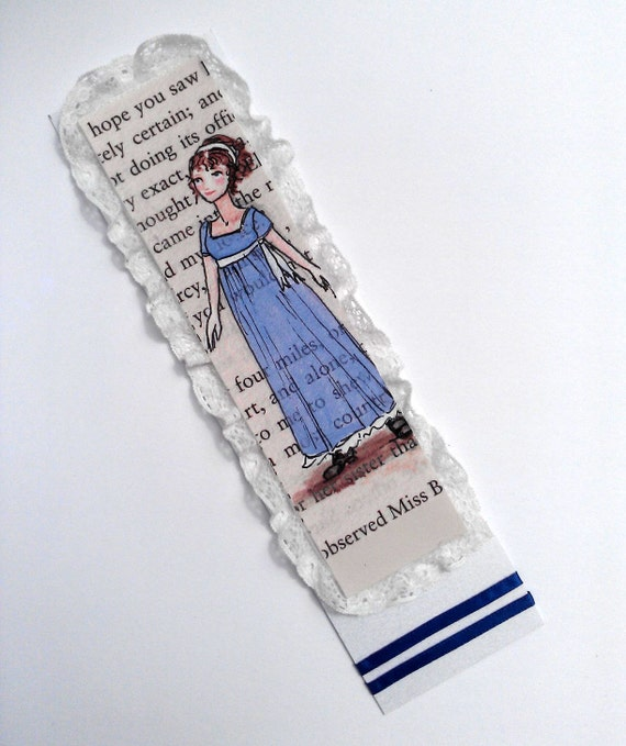 Regency Lace - Handmade Jane Austen Pride and Prejudice Bookmark