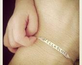Custom bangle bracelet personalized bangle bracelet Mothers Day bracelet mother daughter bracelet mom bracelet baby bracelet hand stamped