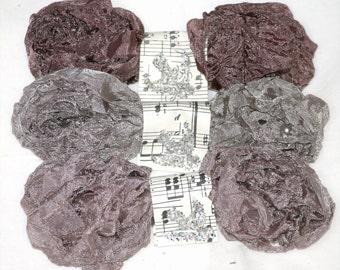 Seam Binding , 18 Yards , ANTIQUE RIBBON , Dusty Colors , Shabby Crinkle Ribbon Taupe Ribbon , Greige Ribbon
