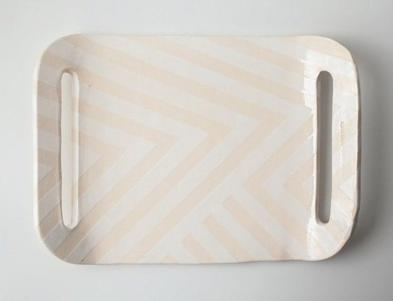 White Zag Tray