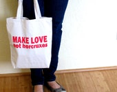 Harry Potter - Make Love Not Horcruxes - Book Bag - Red on Natural