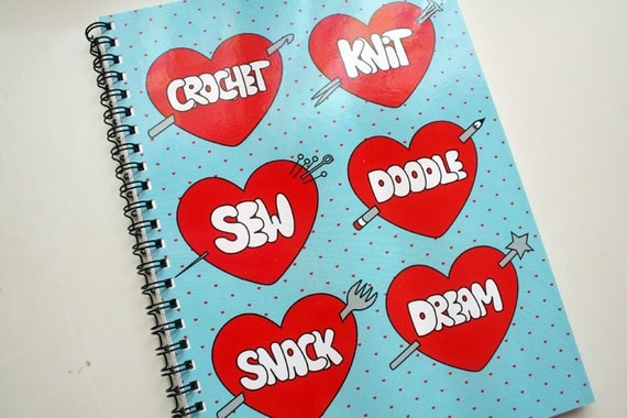 I Heart Crafts - Notebook in Blue