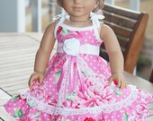 """American Girl Clothes 18"""" doll dress - Pearl - Dress like my doll"""