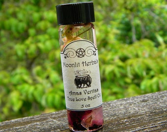 Amas Veritas Spell Oil - Passion, Attraction, Romance, Self Love, Finding a Soul Mate, Heart Chakra, Goddess Aphrodite, Pagan