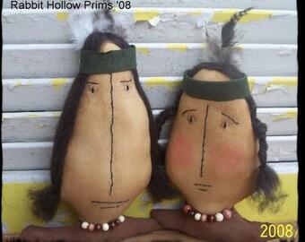 Primitive Thanksgiving Indians Tonto and Sacajawea