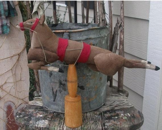 Primitive Christmas Believe in the Magic Reindeer