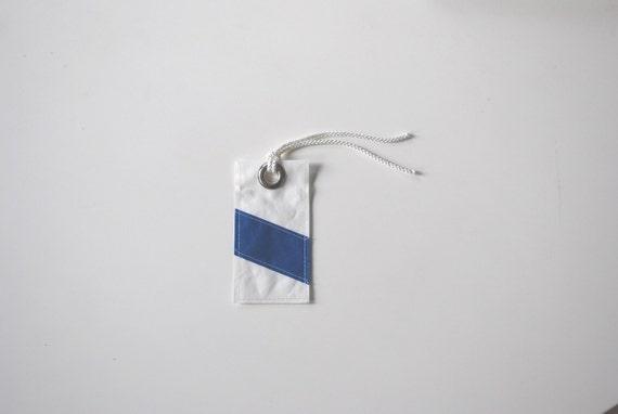 Sailor's Luggage Tag - Blue Stripe