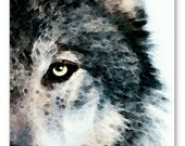 Wolf Art Print Painting Wolves Timber Woods Gray Brown Animals Nature Wildlife CANVAS Country Ready 2 Hang Large Artwork Rustic Modern Sleek