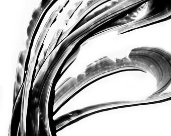 Black and White Painting BW Abstract Art Artwork High Contrast Depth Black Magic 261 Minimalism Minimalist Modern Contemporary Cummings