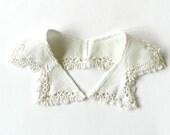 Vintage Cotton Pique and Lace Collar