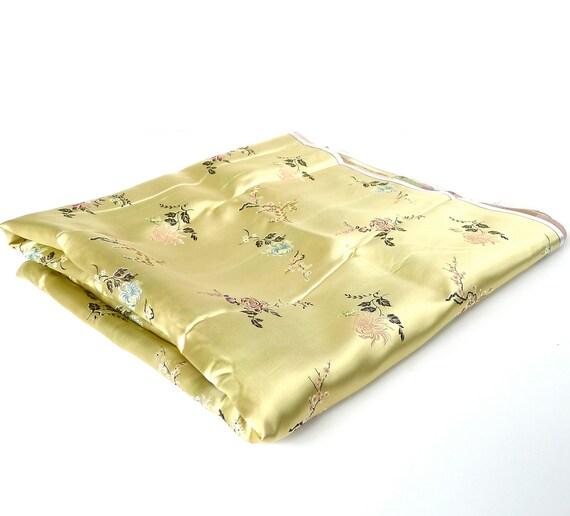 Vintage Chinese Satin Fabric Yardage 6 Yards
