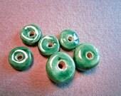 Ceramic Beads Green 6 Beading Bead Embroidery